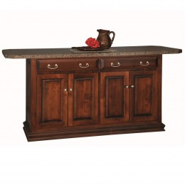 "Traditional 58"" Kitchen Island"