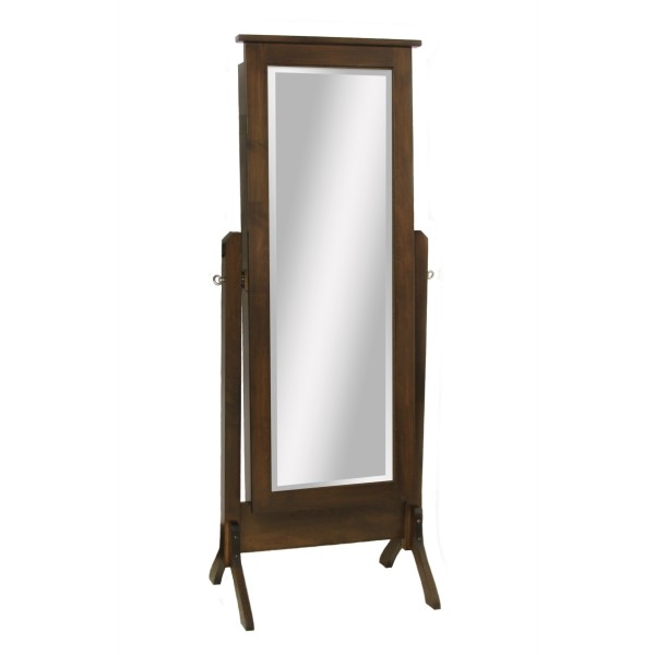 Traditional shaker tall jewelry floor mirror country for Mirror 600 x 600