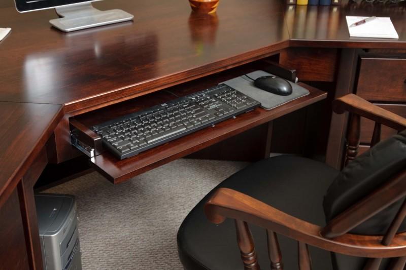 Boyer Ave Corner Desk Amish Handcrafted Furniture