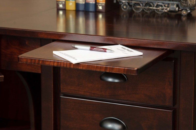 Boyer Ave Single Pedestal Writing Desk