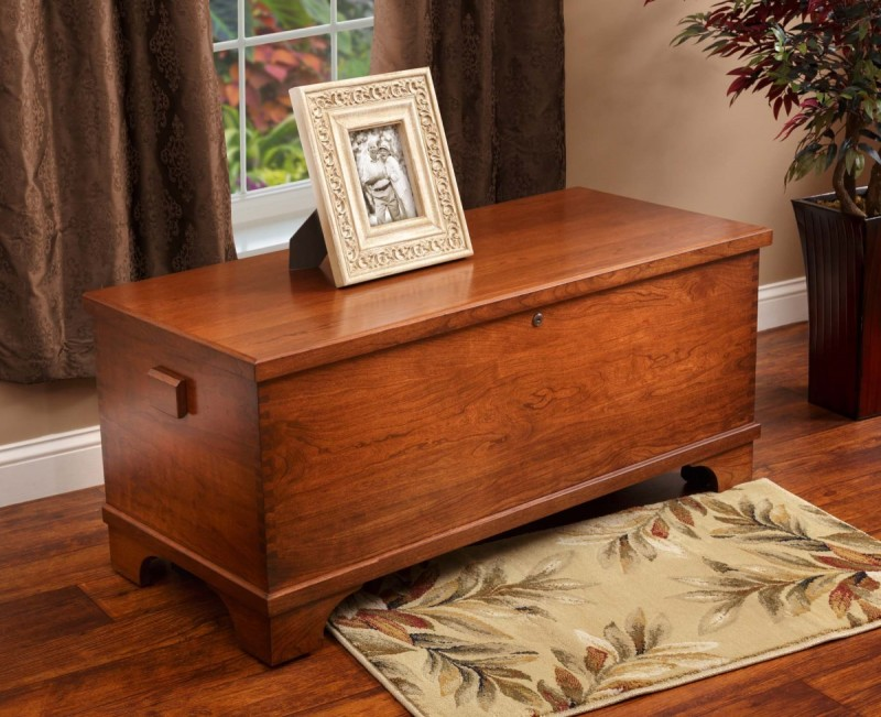 Charleston Large Blanket Chest Oak Amp Cherry Blanket