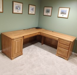 Custom Hickory Corner Desk