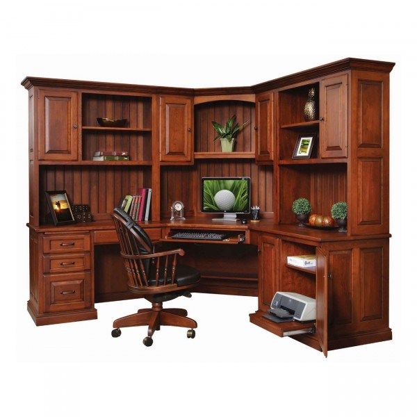 Penn Ave Corner Desk with Hutch