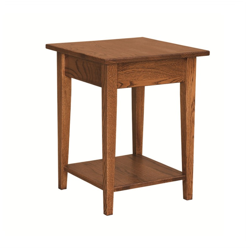 Shaker Small End Table With Shelf Amish Shaker Small End