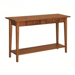Shaker Sofa Table With Shelf