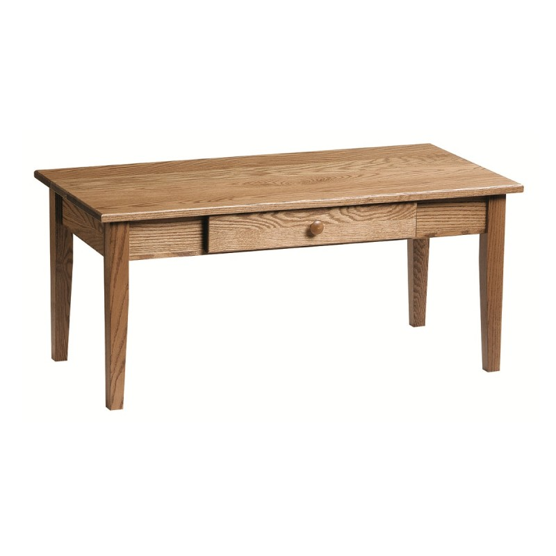 Shaker Coffee Table With Shelf Amish Shaker Coffee Table With Shelf Country Lane Furniture
