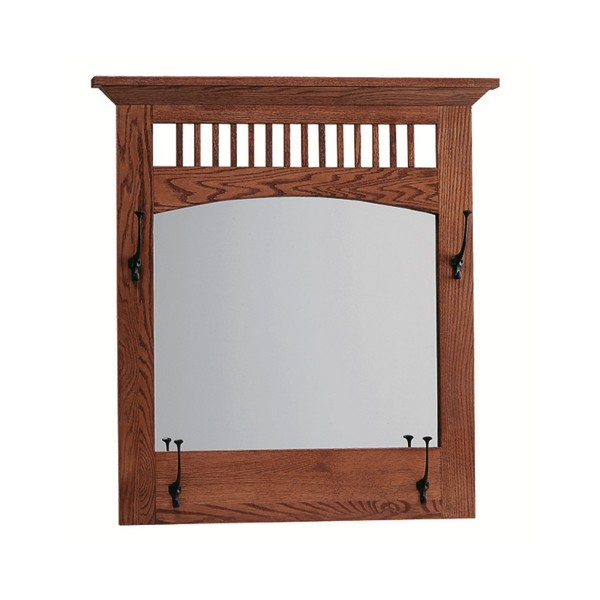 Mission wall mirror amish handcrafted solid hardwood for Mirror 600 x 600