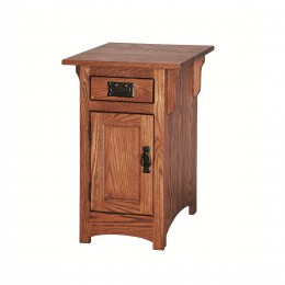 Mission Cabinet Chairside Table