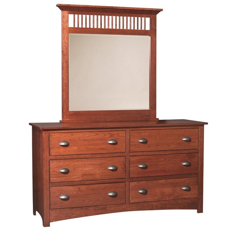 mission large dresser mirror amish made dresser. Black Bedroom Furniture Sets. Home Design Ideas