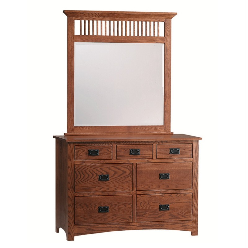 Mission Small Dresser Amp Mirror Amish Made Dresser