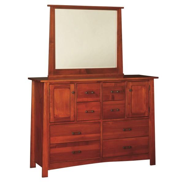 Craftsmen large dresser mirror amish made dresser for Mirror 600 x 600