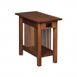 Mission Chairside Table With Drawer