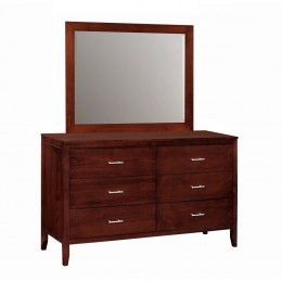 Contemporary Dresser & Mirror
