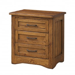 Farmstead 3 Drawer Nightstand