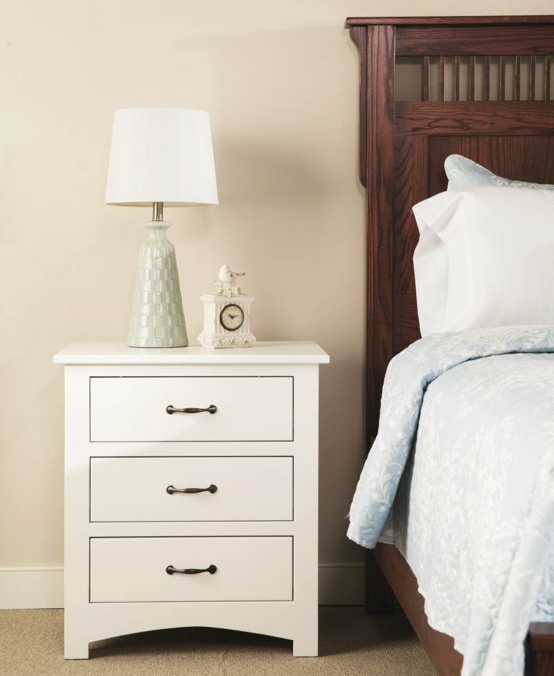 Mission Bedroom Setting Storage Bed 3 Drawer Night