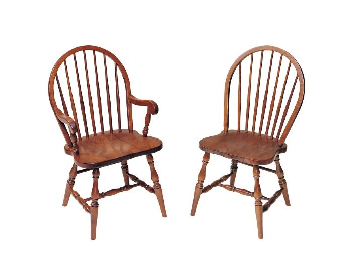 Bow Back Dining Chairs ~ Bow back windsor chair solid hardwood furniture