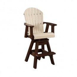 Fanback Patio Swivel Arm Chair