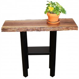 Walnut Live Edge Console Table
