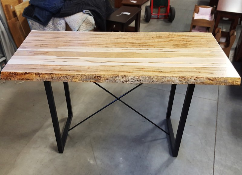 Wormy Maple Live Edge Table Solid Hardwood Furniture Locally