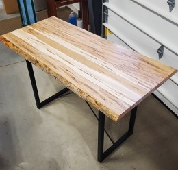 "Wormy Maple 30"" x 60"" Live Edge Table"