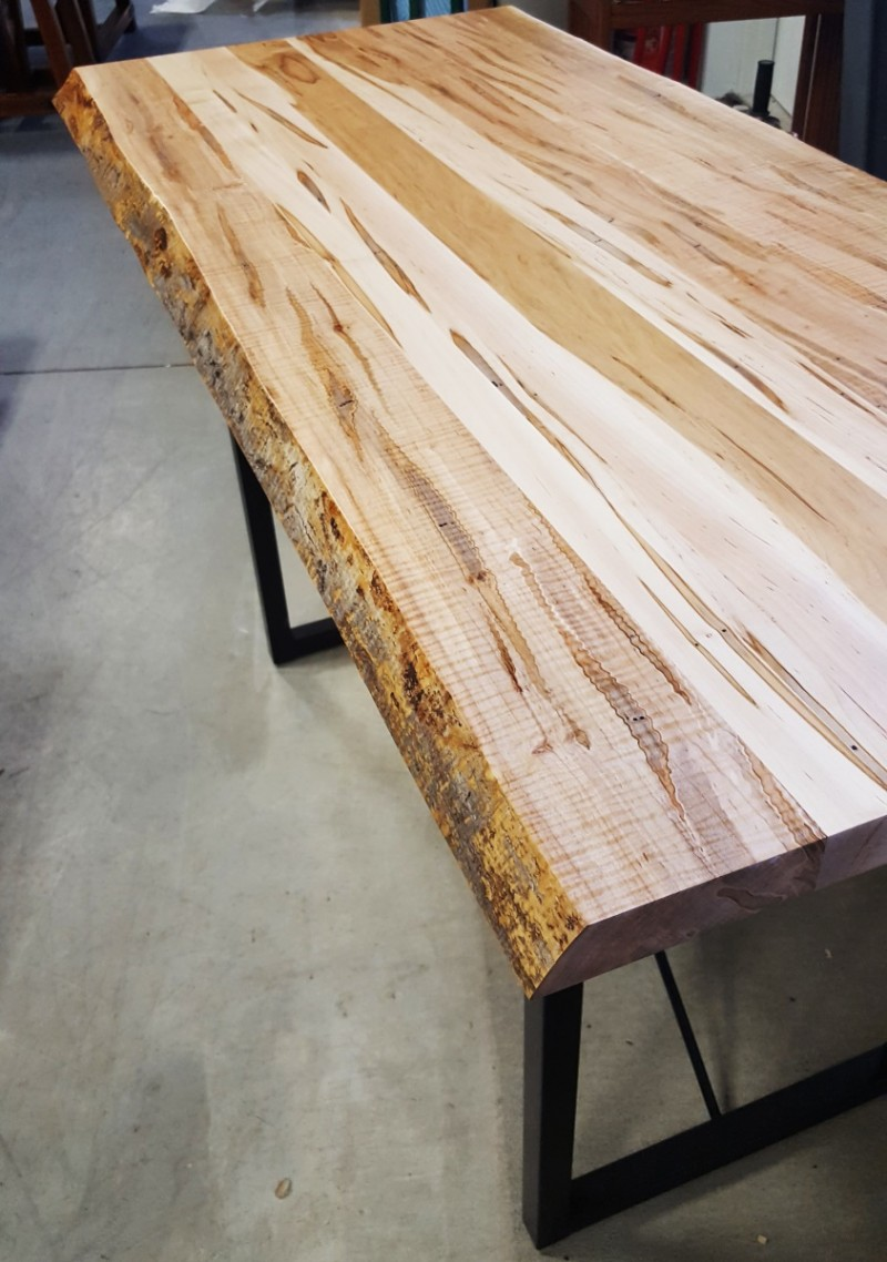 Maple Live Edge Table Designs