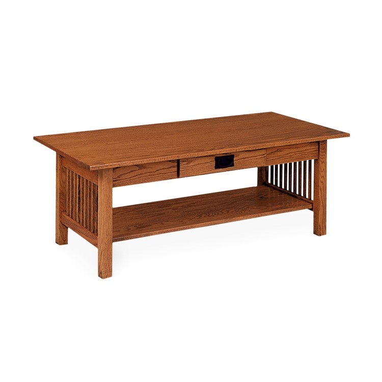 Mission Coffee Table With Drawer Amish Mission Coffee Table With Drawer Country Lane Furniture
