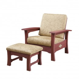 Poly Outdoor Chair & Ottoman