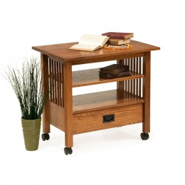 Mission TV Cart With Drawer