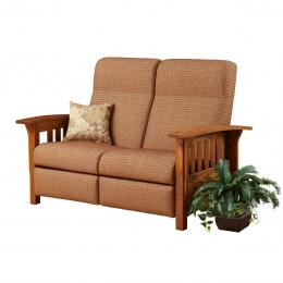 Classic Mission Reclining Love Seat