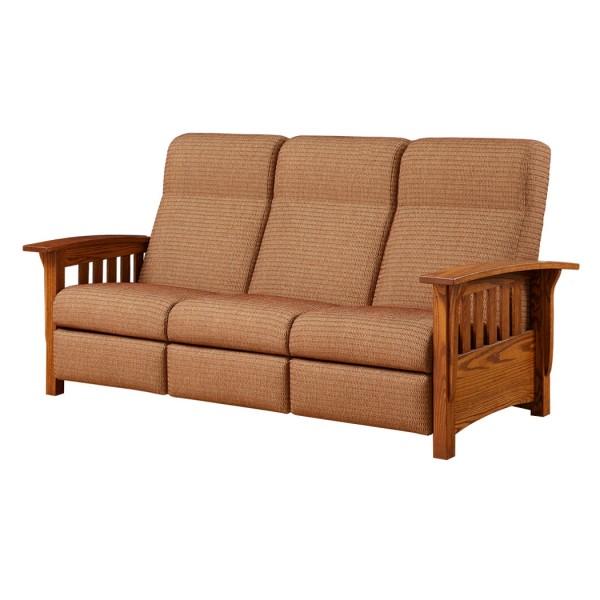 Classic Mission Reclining Sofa | Amish Classic Mission Reclining Sofa - Country Lane Furniture