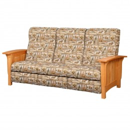 Paneled Mission Reclining Sofa