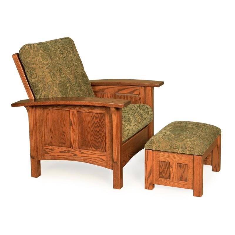Paneled Mission Morris Chair Ottoman Amish Paneled Mission Morris Chair Ottoman Country