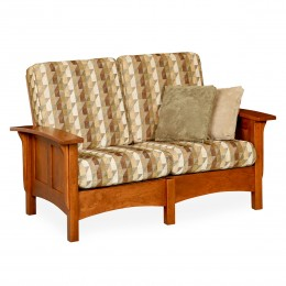 Paneled Mission Love Seat