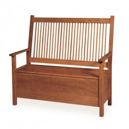 Mission Deacon's Bench With Storage