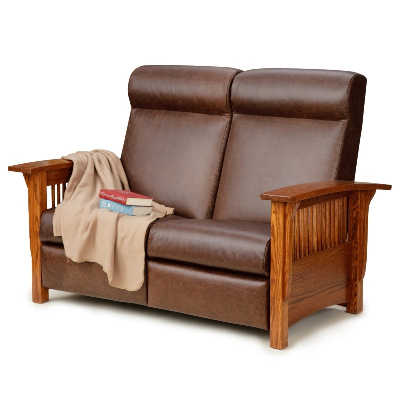 Mission Reclining Love Seat Amish Mission Reclining Love