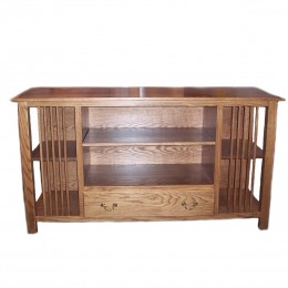 Custom Oak Mission TV Stand