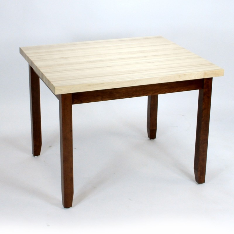 shaker butcher block gathering table amish and mennonite made butcher block table pa. Black Bedroom Furniture Sets. Home Design Ideas