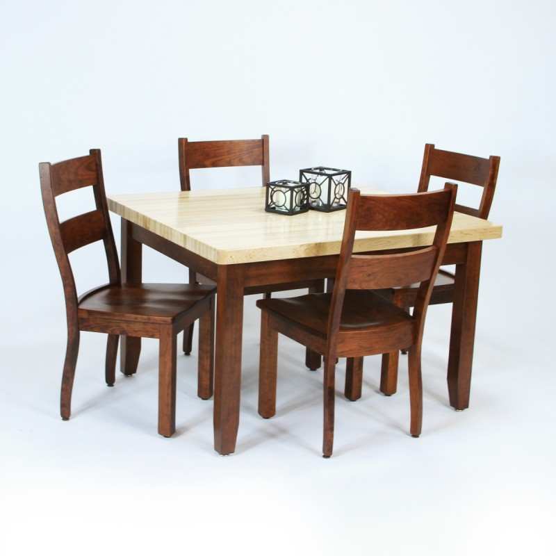 Butcher block dining set country lane furniture - Butcher block kitchen table set ...