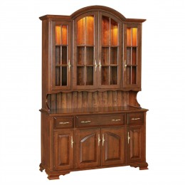Queen Anne 4 Door Hutch