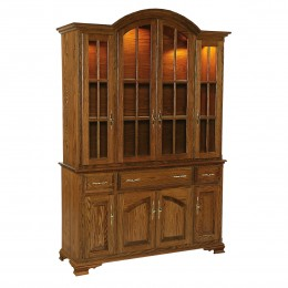 Queen Anne Full 4 Door Hutch