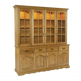 Traditional 4 Full Door Hutch