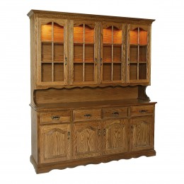 Traditional 4 Door Hutch
