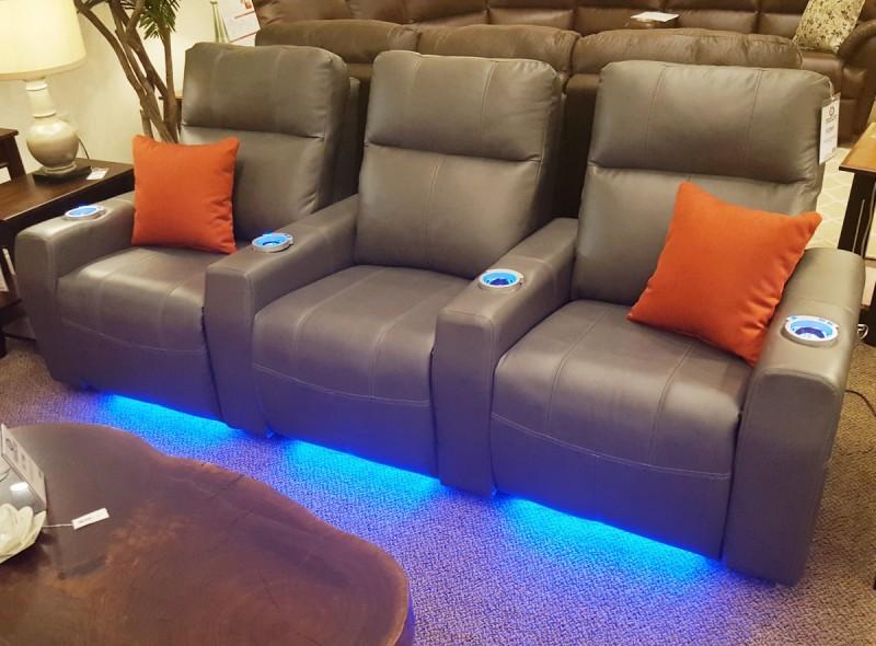 Theater Sofa With Power U0026 Lights