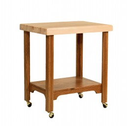 Butcher Block Serving Cart