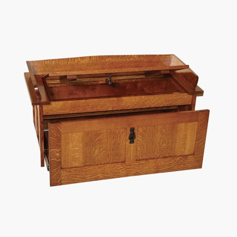 Shoe Storage Chest Amish Mission Shoe Storage Bench
