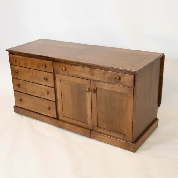 Quilters Delight 2 Sewing Cabinet on Amish Furniture Kitchen Tables