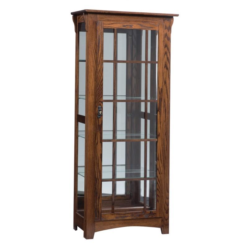 Mission Single Door Curio Country Lane Furniture