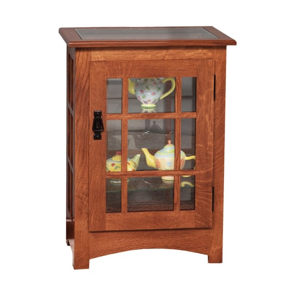 Mission Console End Table Curio