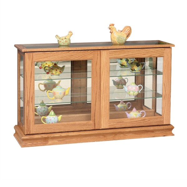 Large Sliding Door Console Curio