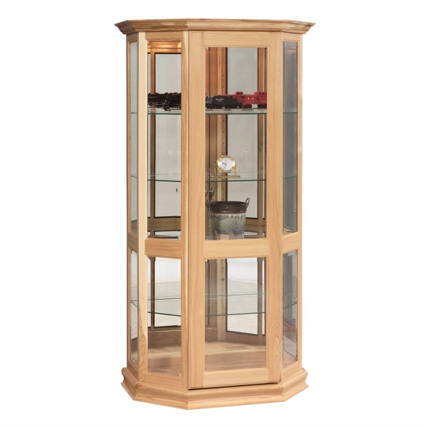 Sliding Door Curio With Adjustable Shelves Country Lane